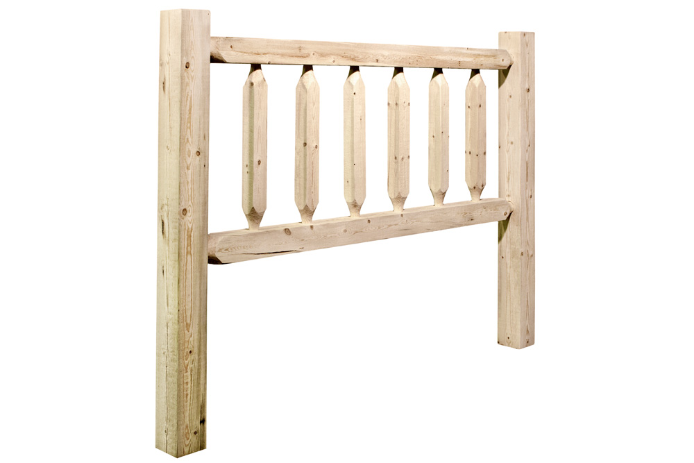 Black Forest Decor Homestead king log headboard - lacquered