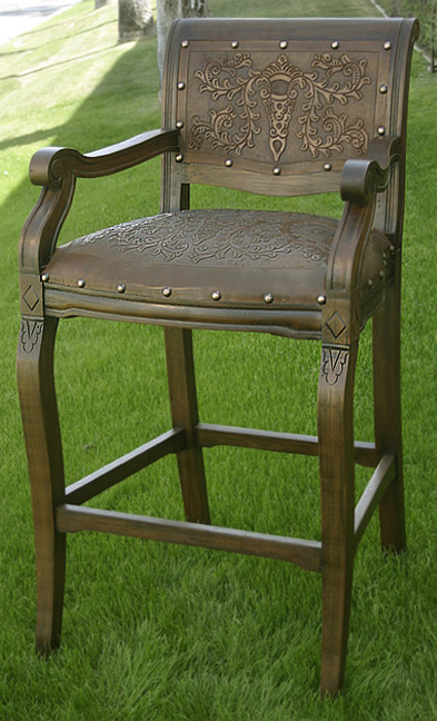 Black Forest Decor Imperial counter stool with arms - set...