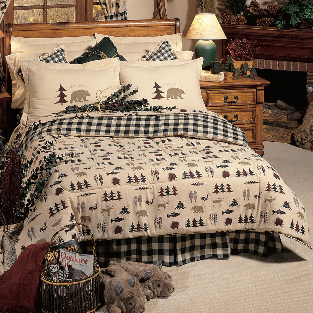 Black Forest Decor Northern exposure comforter set - king