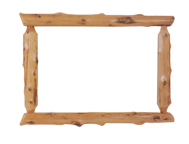 Black Forest Decor Log mirror - 48 x 36 (without glass)