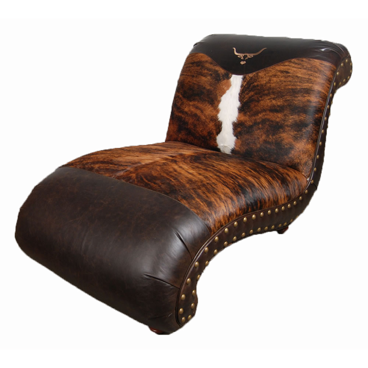 Black Forest Decor Longhorn chaise lounge