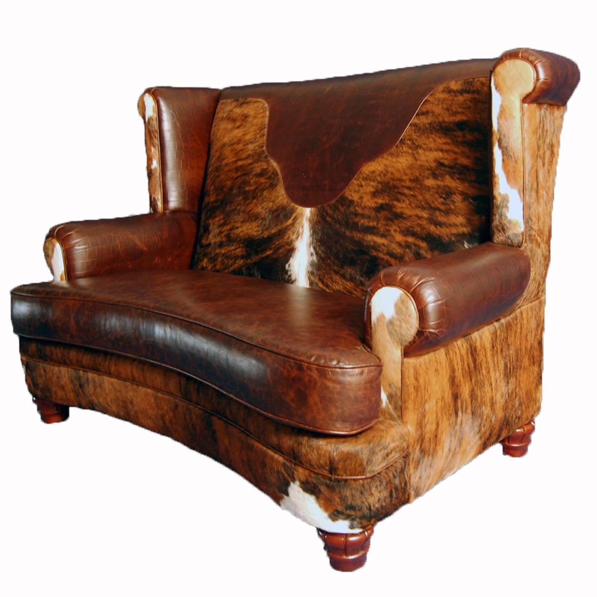 Black Forest Decor Luckenbach curved front loveseat