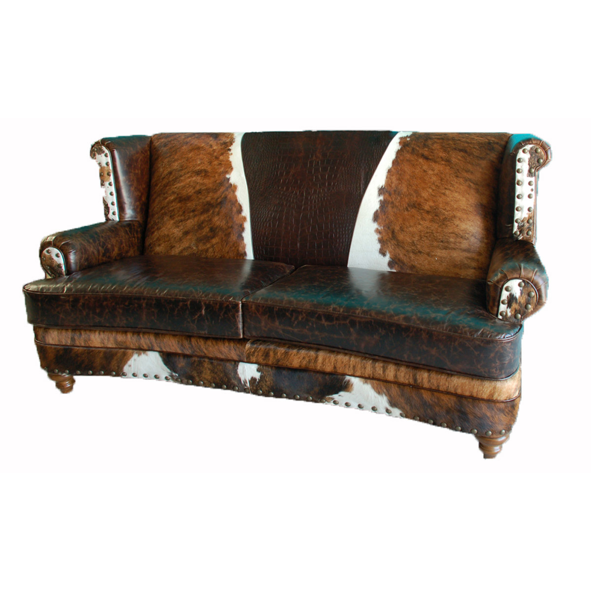 Black Forest Decor Luckenbach curved front sofa