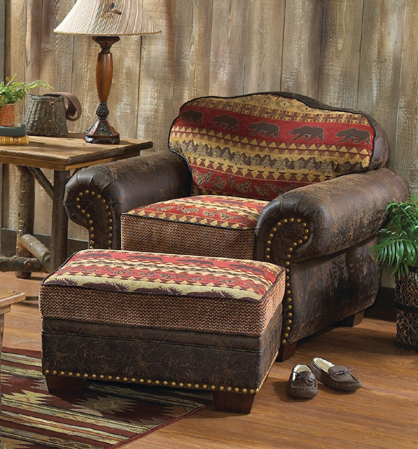 Black Forest Decor Bear creek storage ottoman