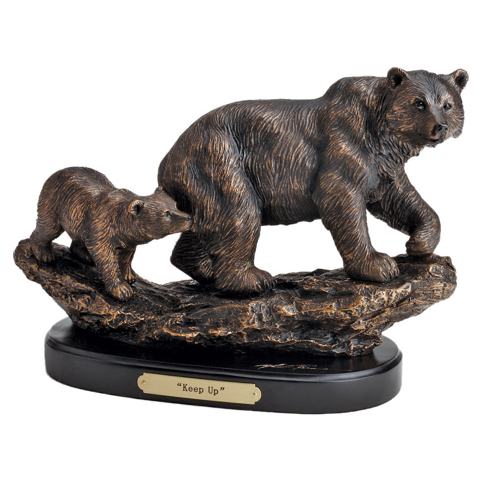 Black Forest Decor Mom's shadow bear sculpture