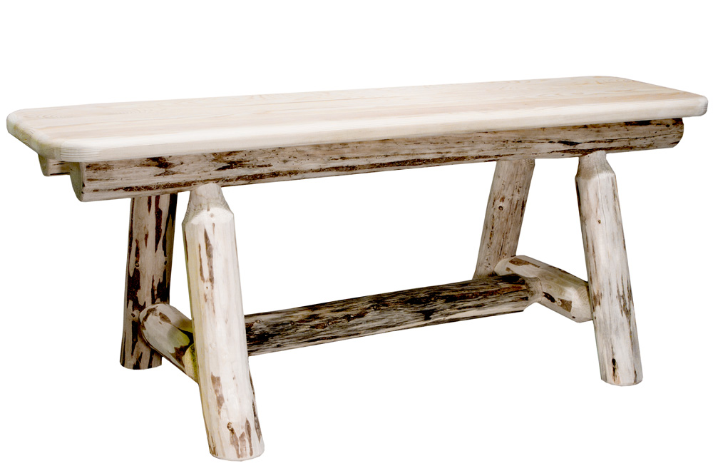 Black Forest Decor Montana 4' plank bench - unfinished