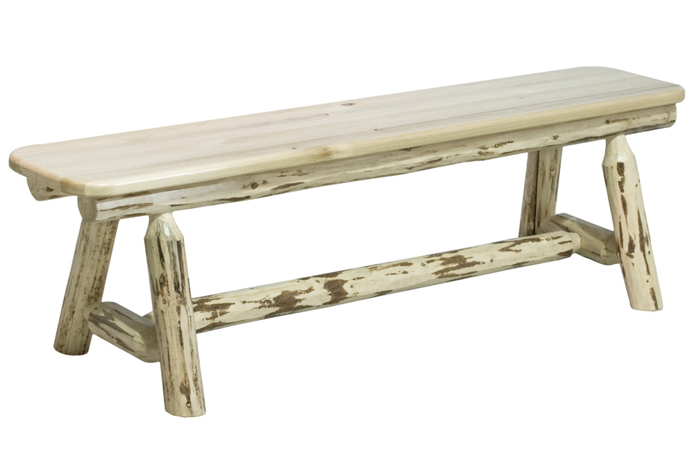 Black Forest Decor Montana 6' plank bench - unfinished