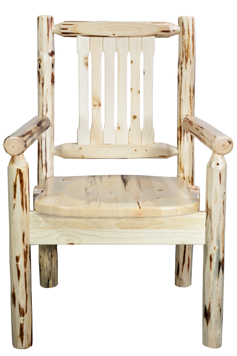 Black Forest Decor Montana captain's chair - lacquered