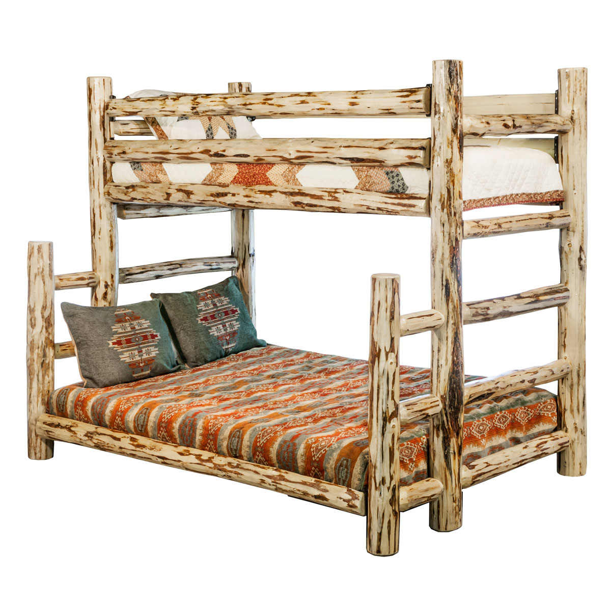 Black Forest Decor Montana twin/full bunk bed - lacquered