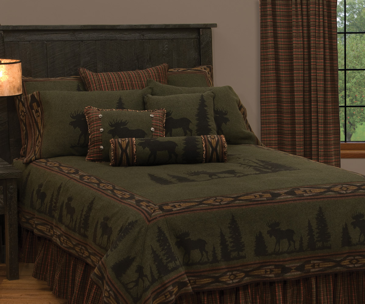 Black Forest Decor Moose 1 deluxe bed set - super queen