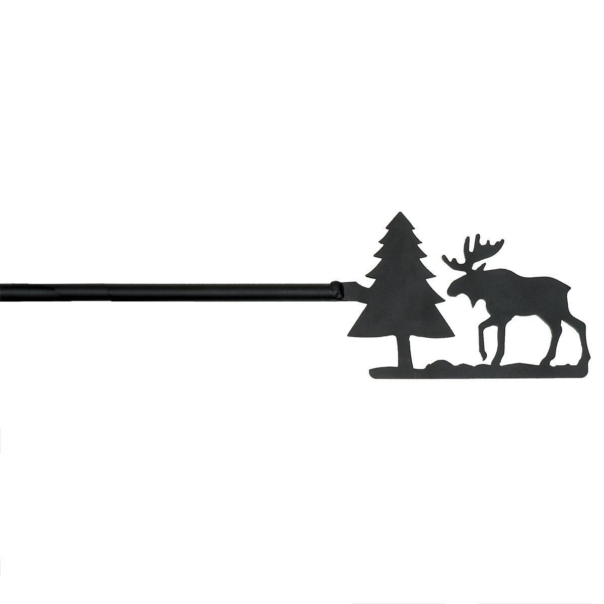 Black Forest Decor Moose & tree wrought iron curtain rod