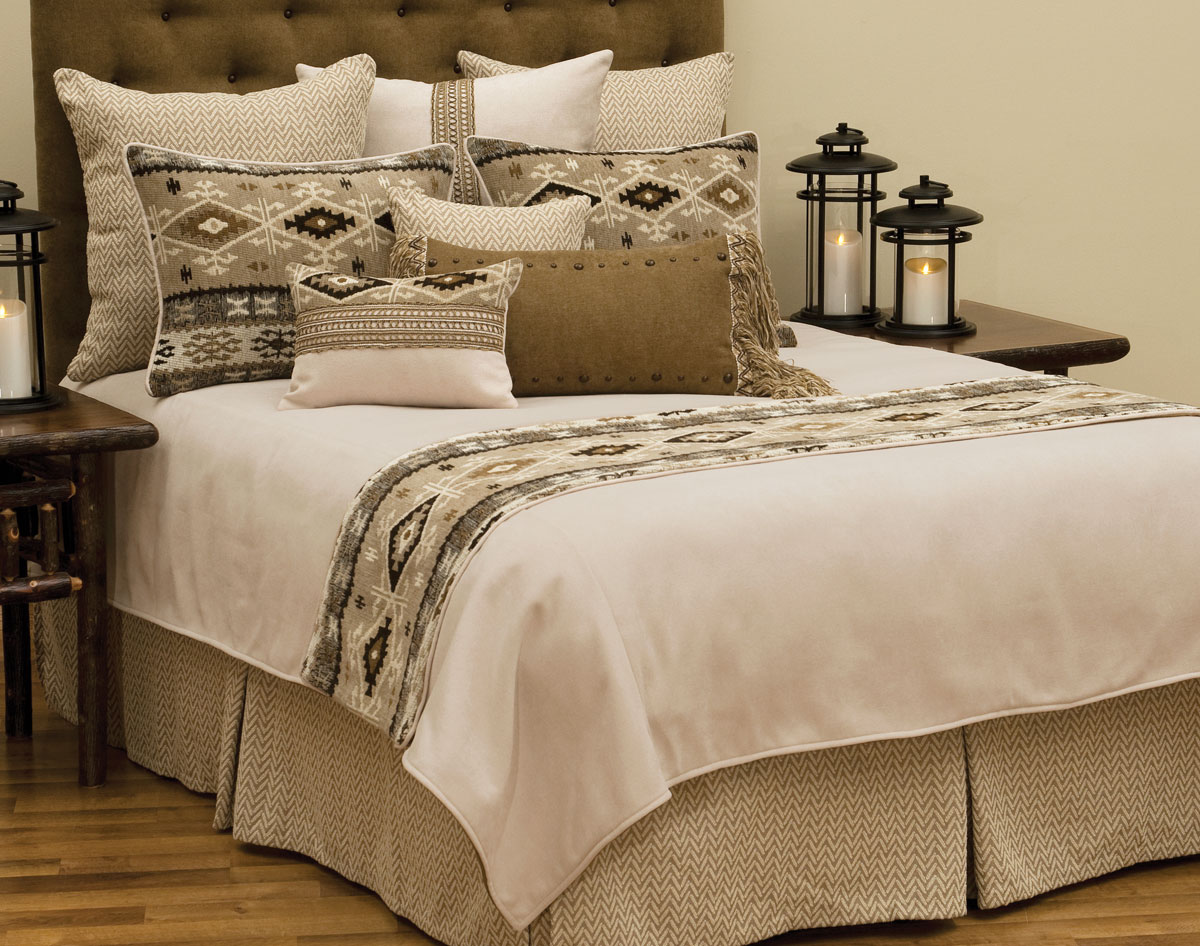Black Forest Decor Mountain storm basic bed set - queen