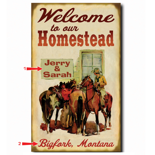 Black Forest Decor Welcome to our homestead sign