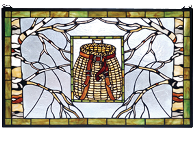 Black Forest Decor Pack basket stained glass window - 28 ...