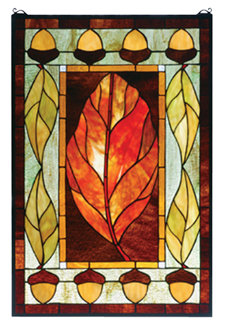 Black Forest Decor Harvest festival stained glass window