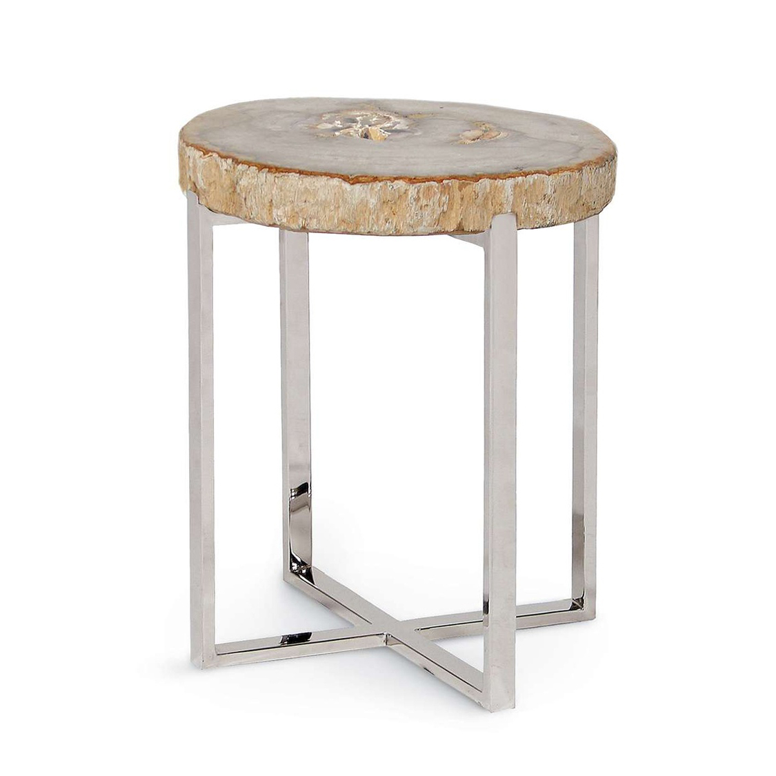 Black Forest Decor Natural artistry accent table with sta...
