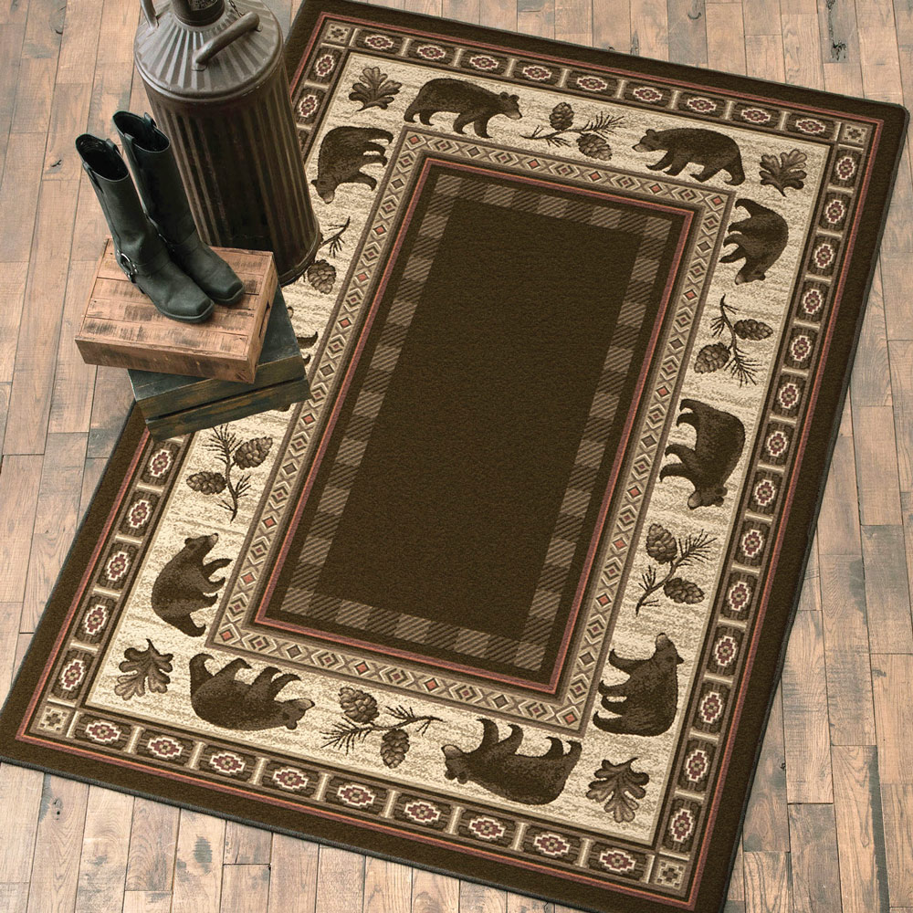 Black Forest Decor Nature bears rug - 8 ft. round