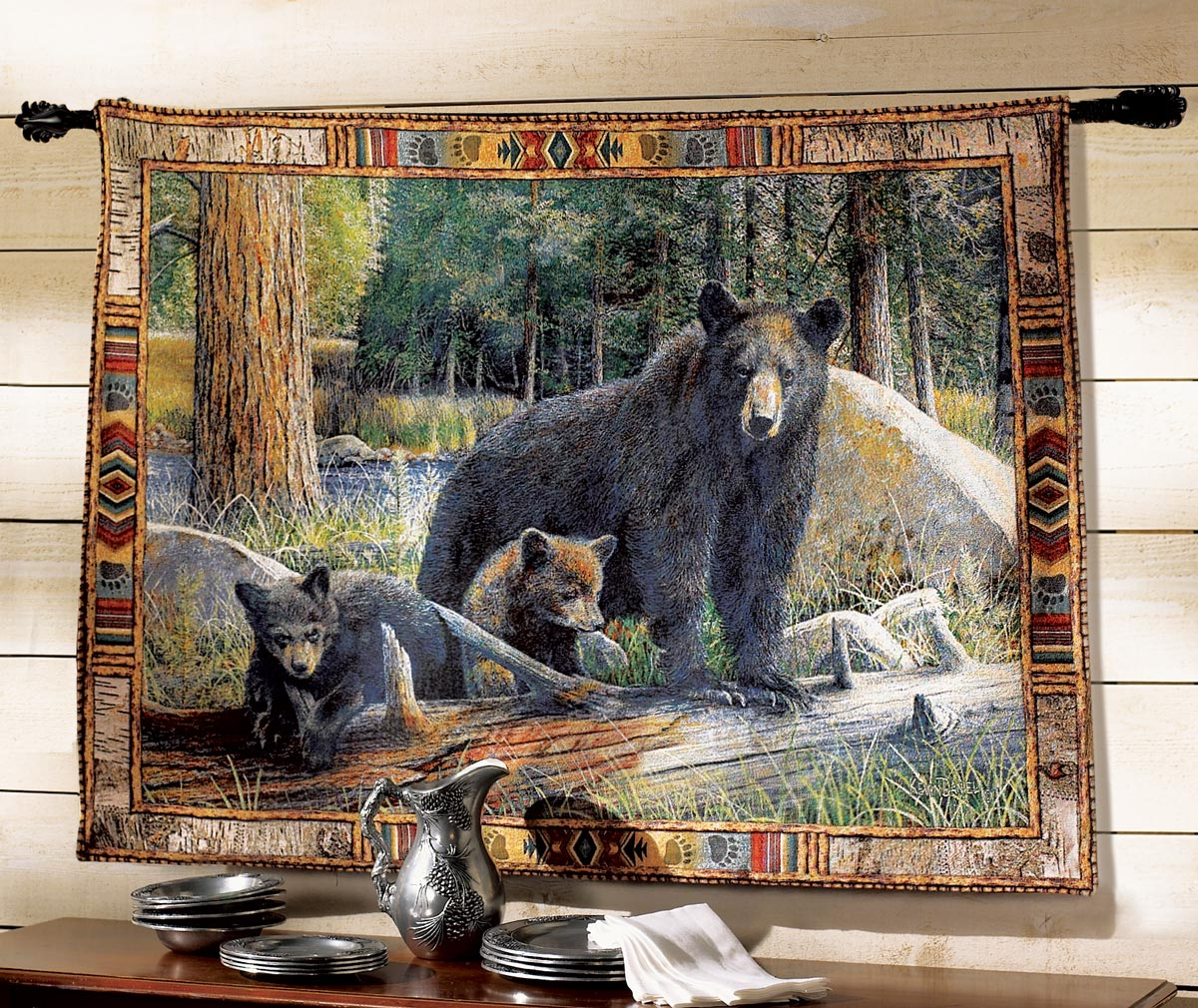 Tapestry Wall Hanging black bear tapestry wall hanging