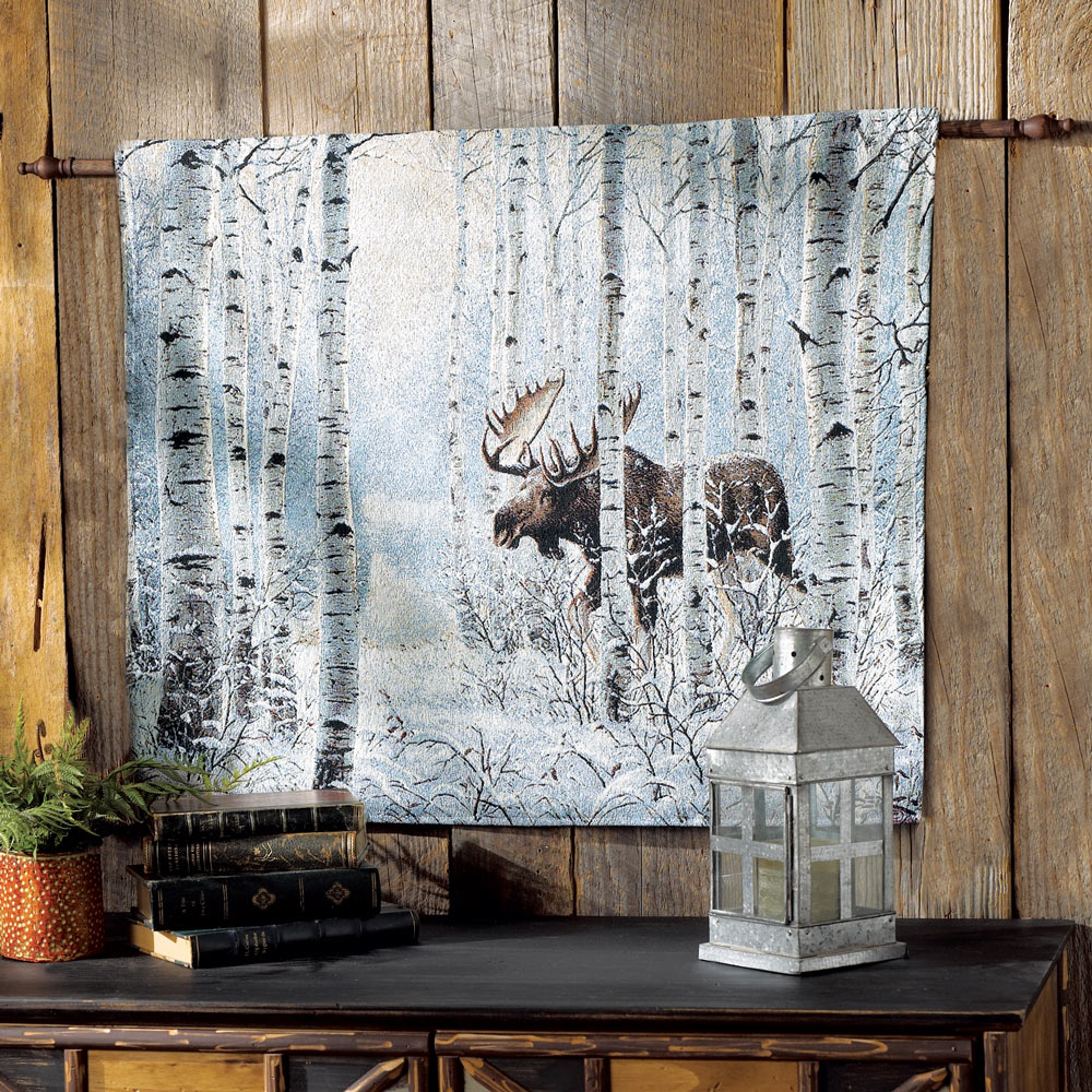 How To Hang A Tapestry On The Wall moose on the move tapestry wall hanging