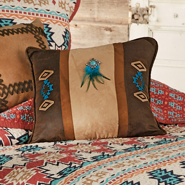 Black Forest Decor Phoenix southwest embroidered pillow w...
