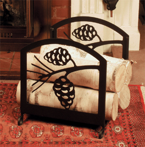 Black Forest Decor Pine cone wood rack