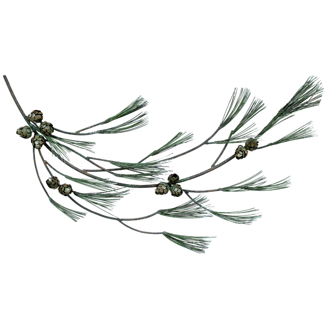 Black Forest Decor Pine tree branch wall hanging
