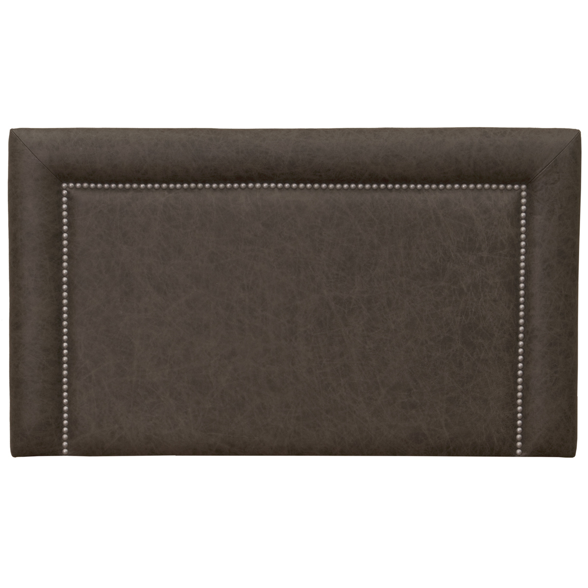 Black Forest Decor Plateau saloon gray leather headboard ...