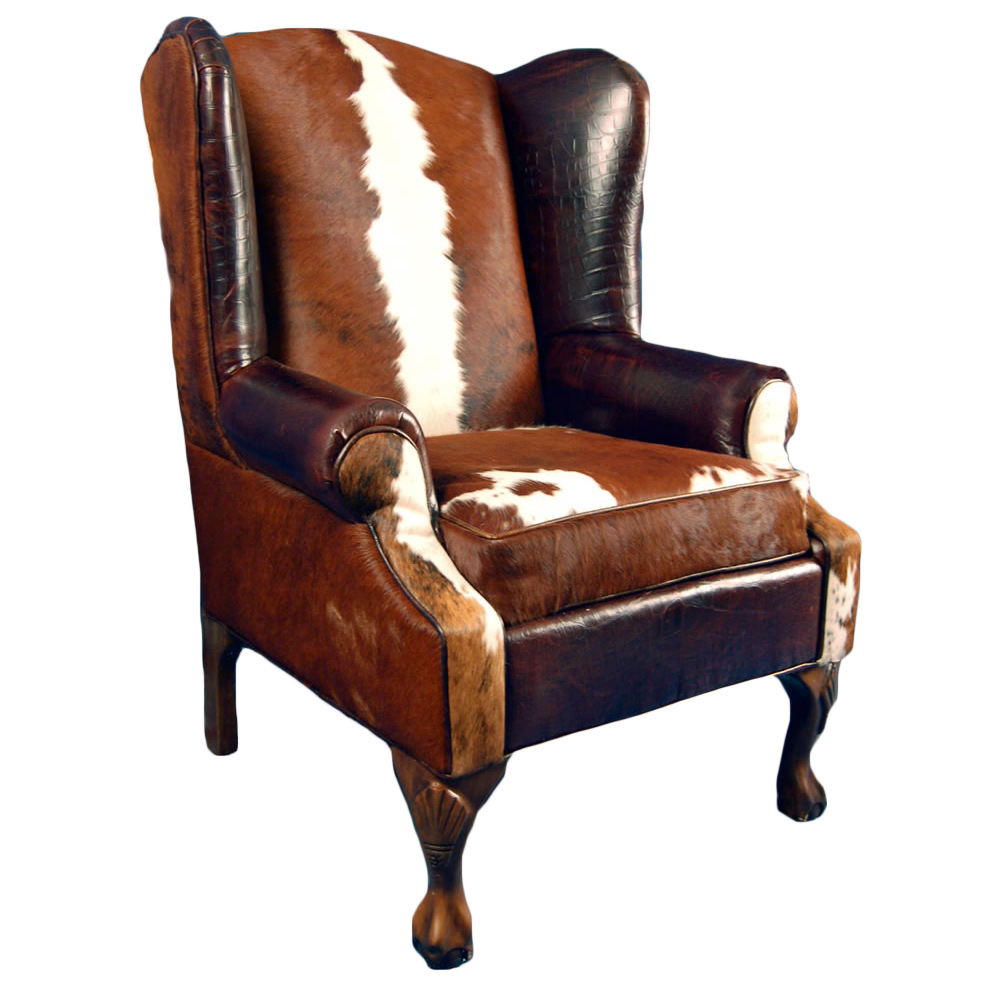 Black Forest Decor Railroadsman's wing back chair