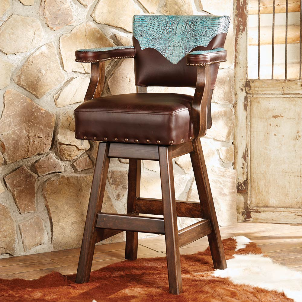 Black Forest Decor Ranchero turquoise and brown leather b...