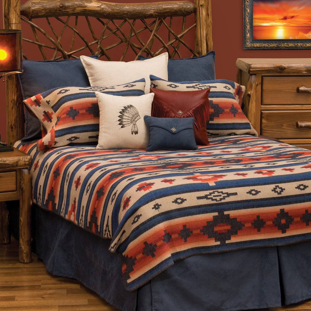 Black Forest Decor Redrock canyon deluxe bed set - queen