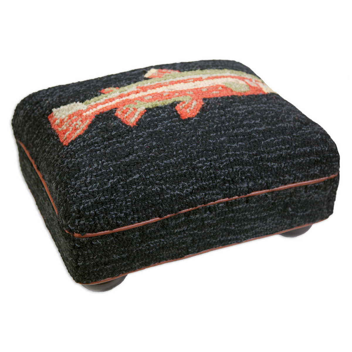 Black Forest Decor Riverfish hooked top footstool