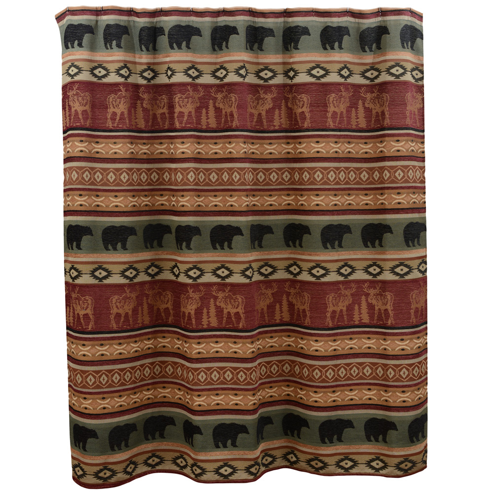 Moose and bear shower curtain | Bathroom Accessories | Compare ...