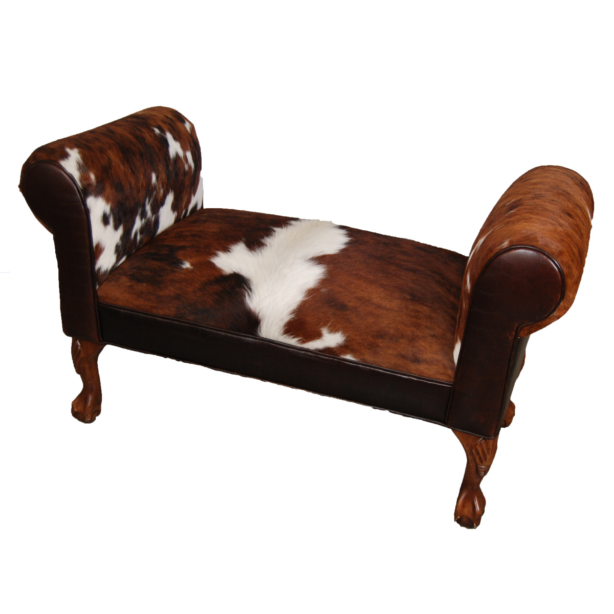 Black Forest Decor Roll arm bench