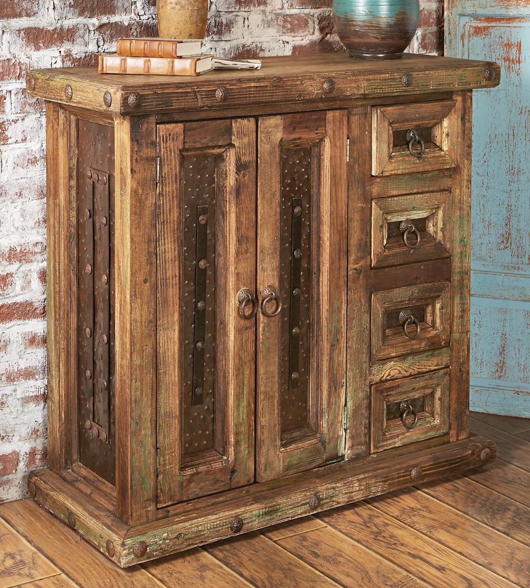 Black Forest Decor Rustic reclaimed wood mini armoire