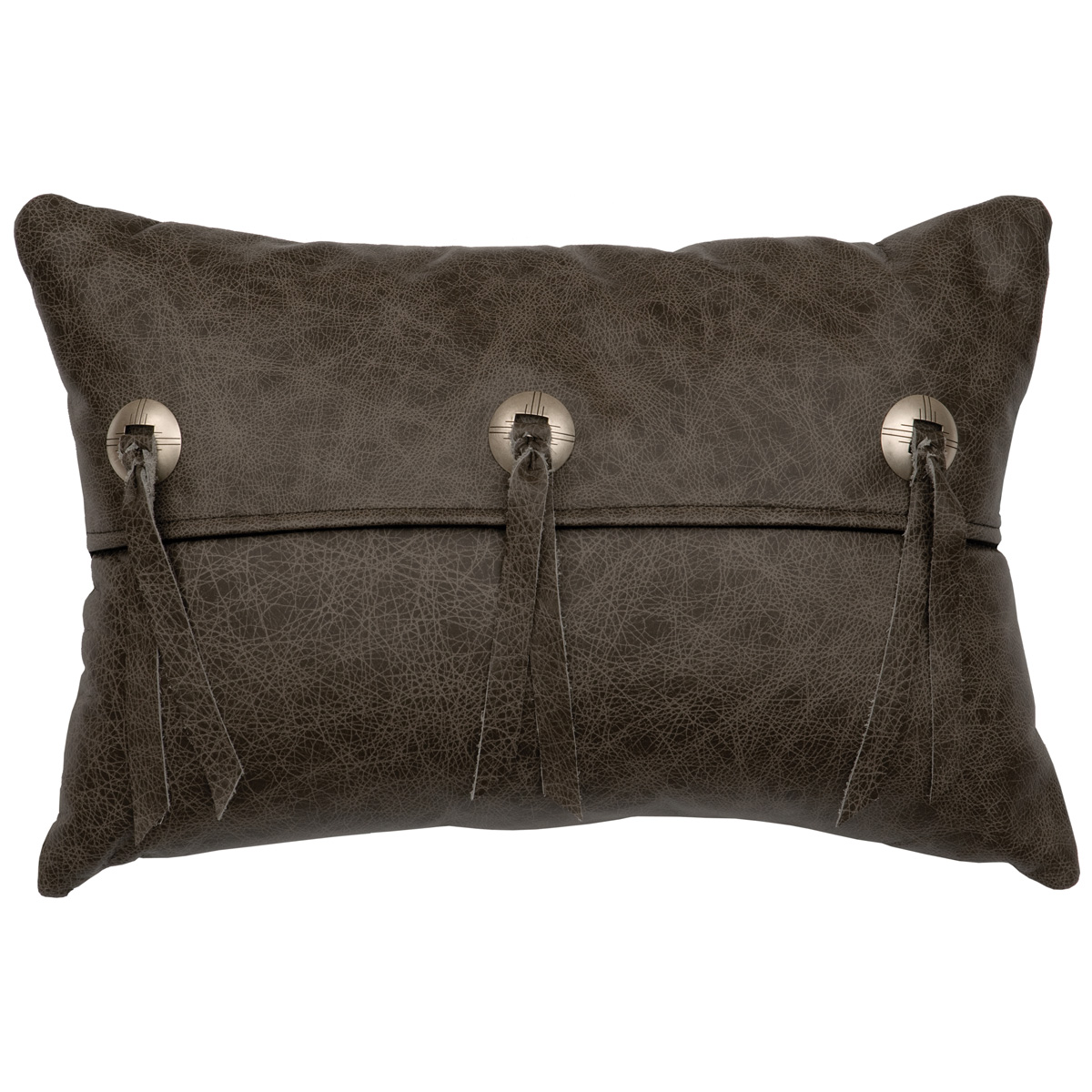 Black Forest Decor Saloon gray leather flap and concho pi...