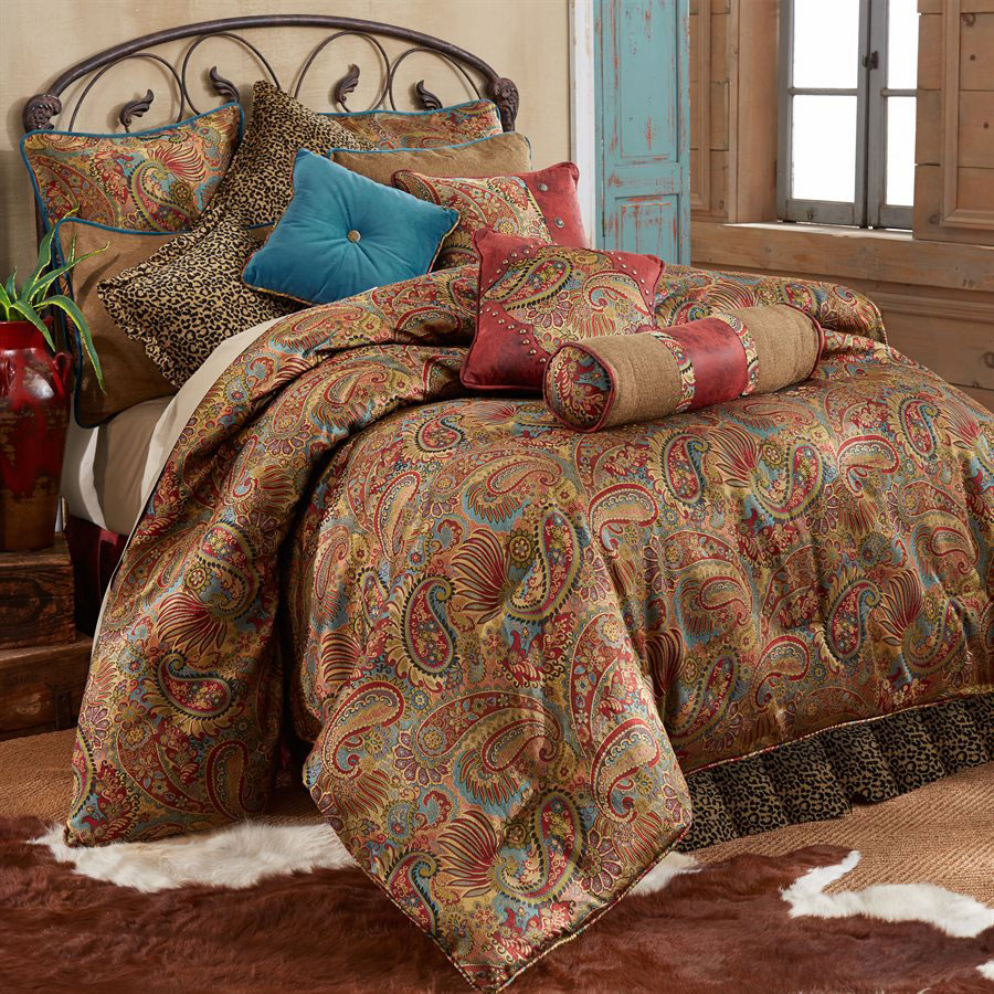 Black Forest Decor San angelo comforter set with leopard ...