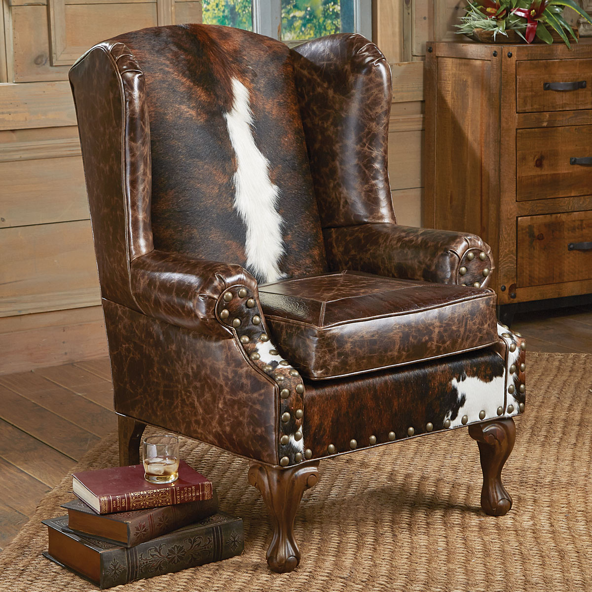 Black Forest Decor Santa fe wing back chair