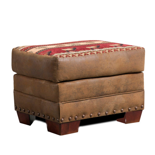 Black Forest Decor Forest tapestry ottoman