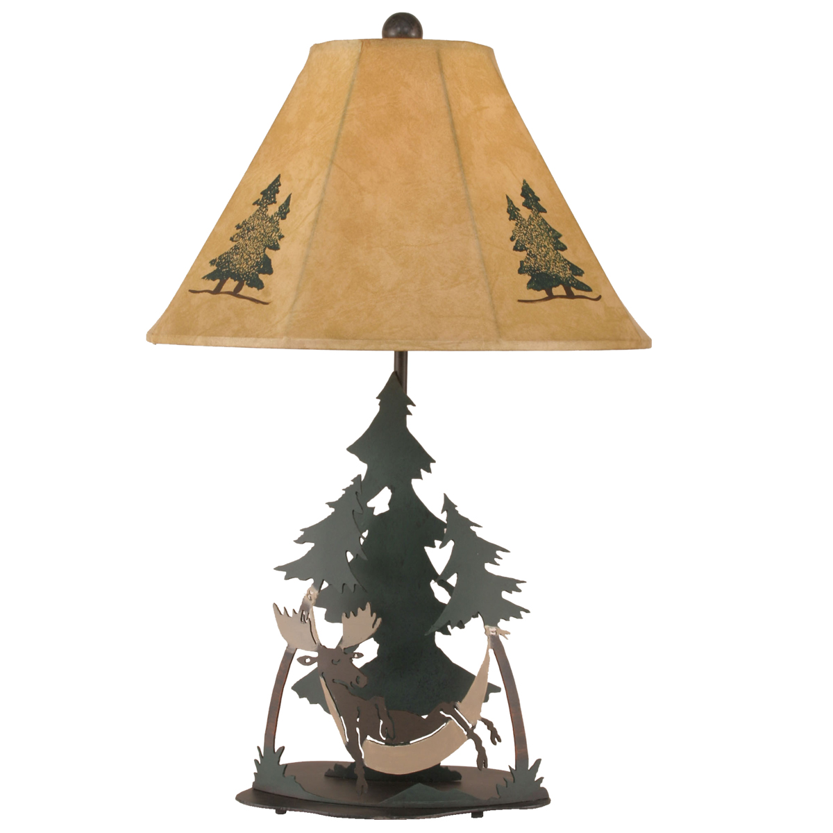 Black Forest Decor Sleepy elk table lamp