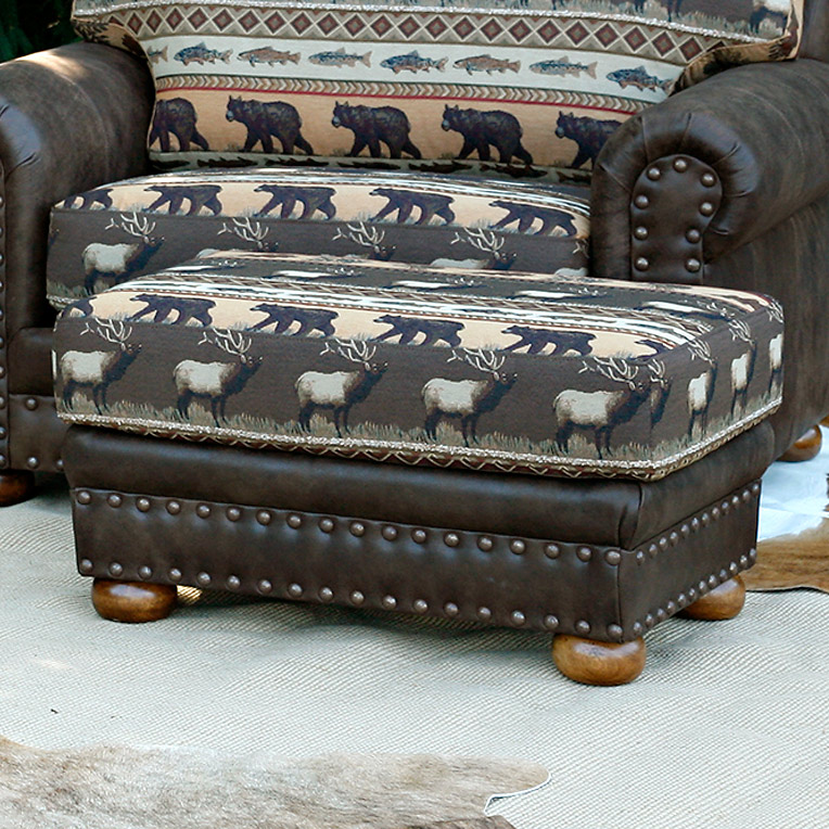 Black Forest Decor Spring creek gatlinburg oversized ottoman
