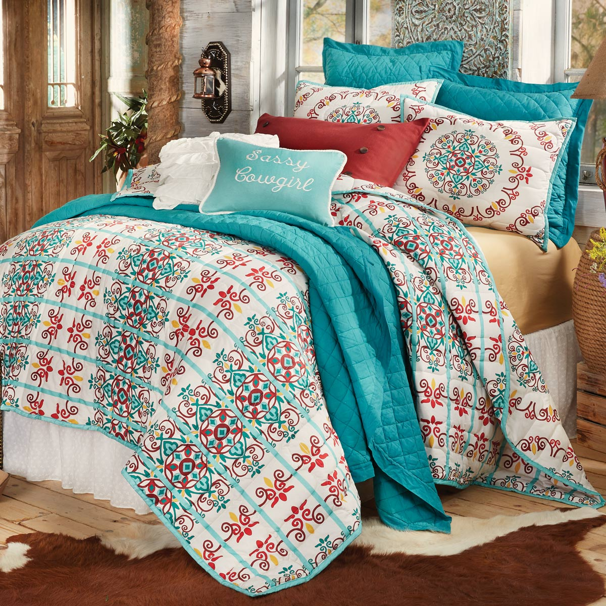 Black Forest Decor Talavera quilt bed set - full/queen