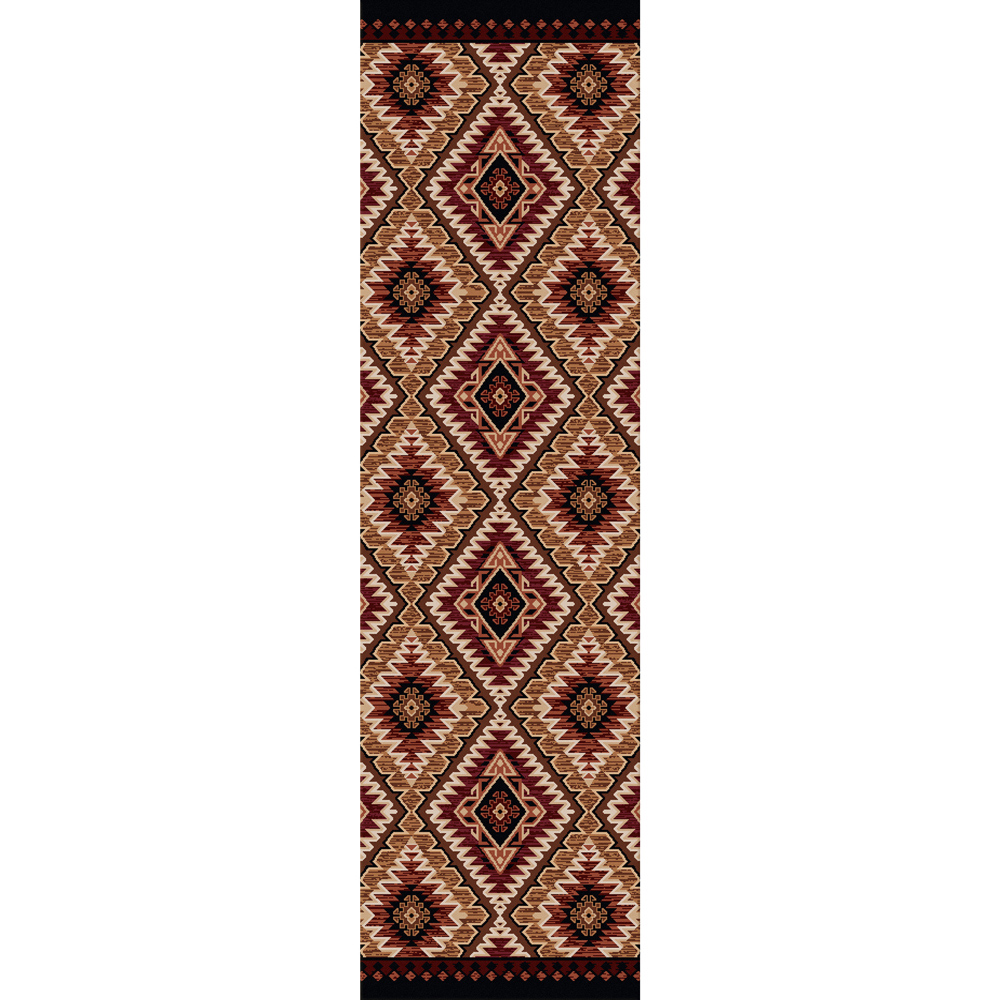 Black Forest Decor Traditions gold rug - 2 x 8