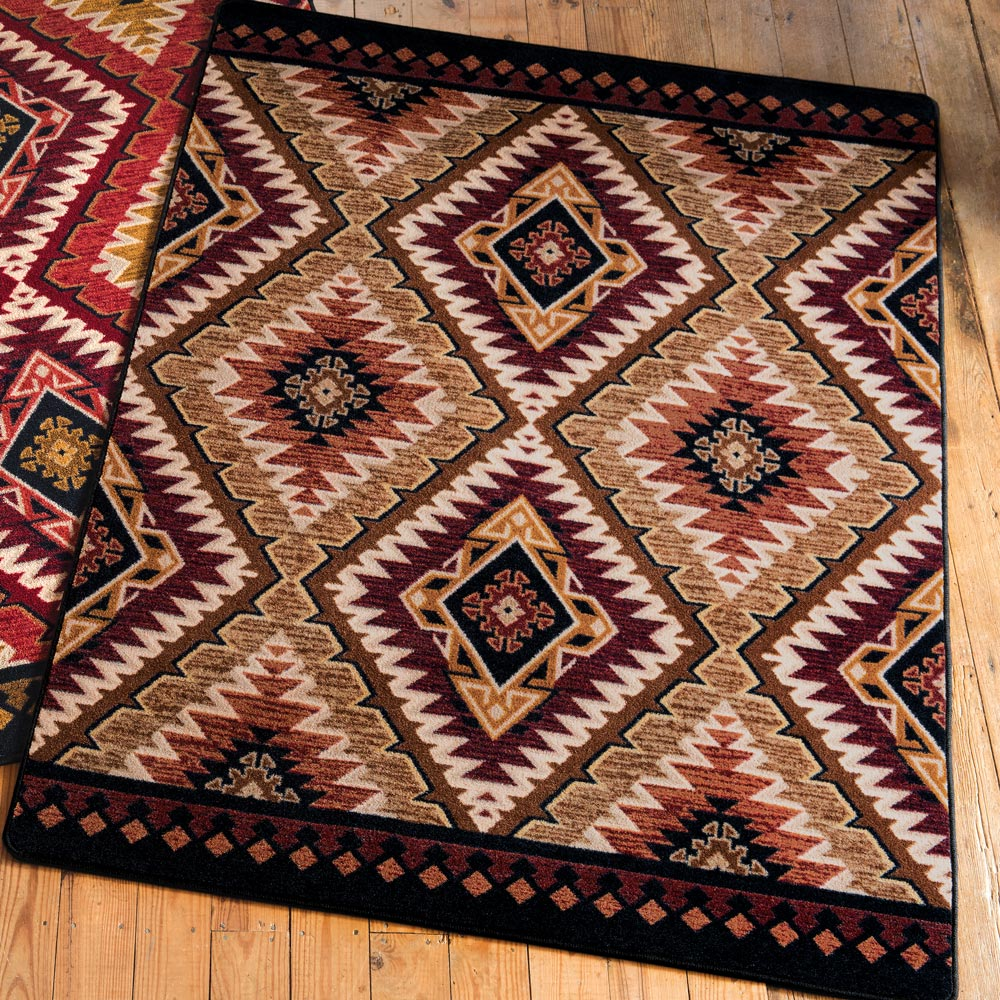 Black Forest Decor Traditions gold rug - 5 x 8