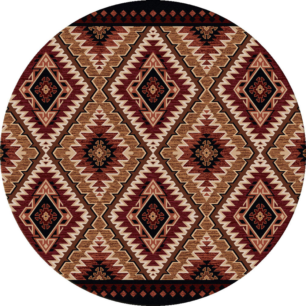 Black Forest Decor Traditions gold rug - 8 ft. round
