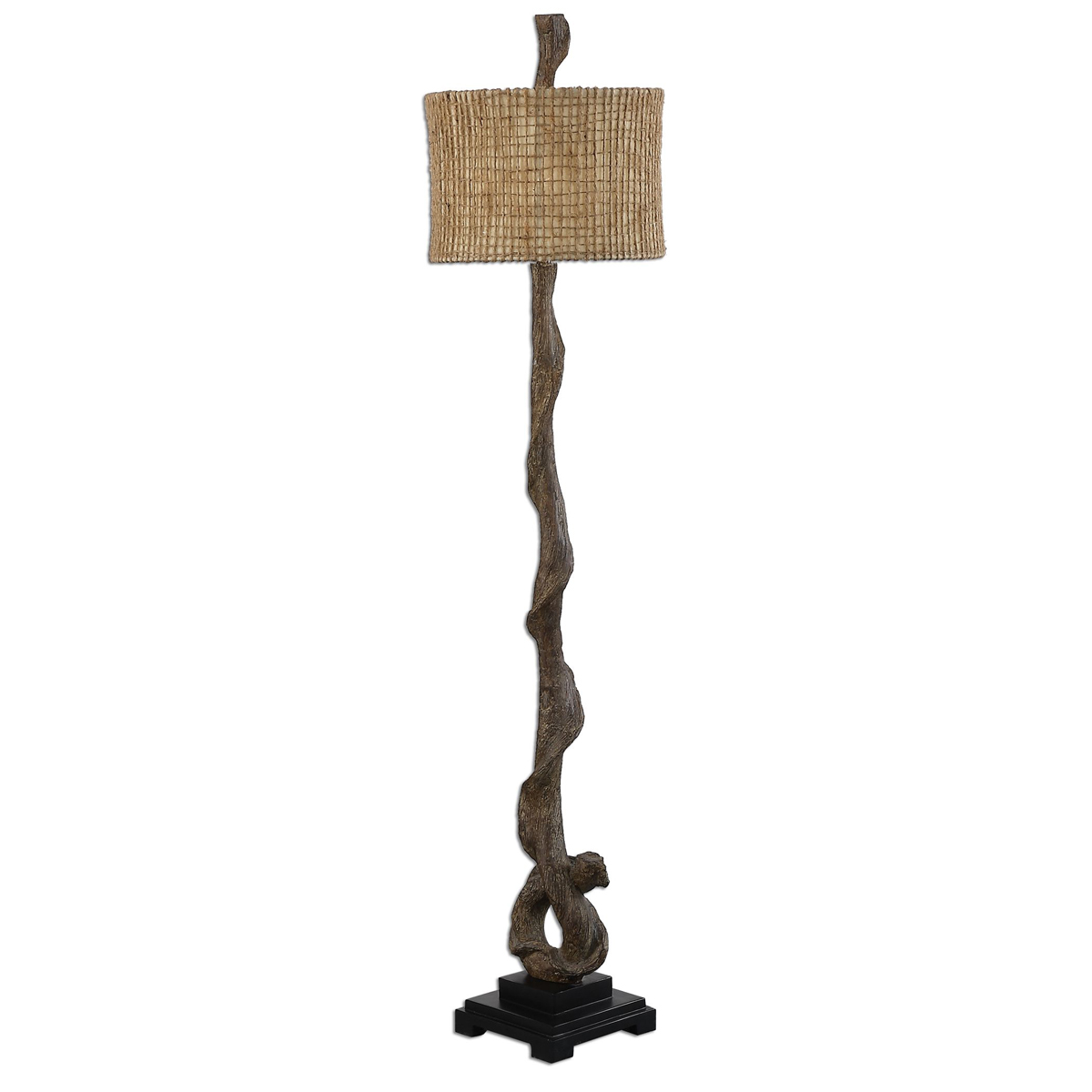 Black Forest Decor Twisted driftwood floor lamp