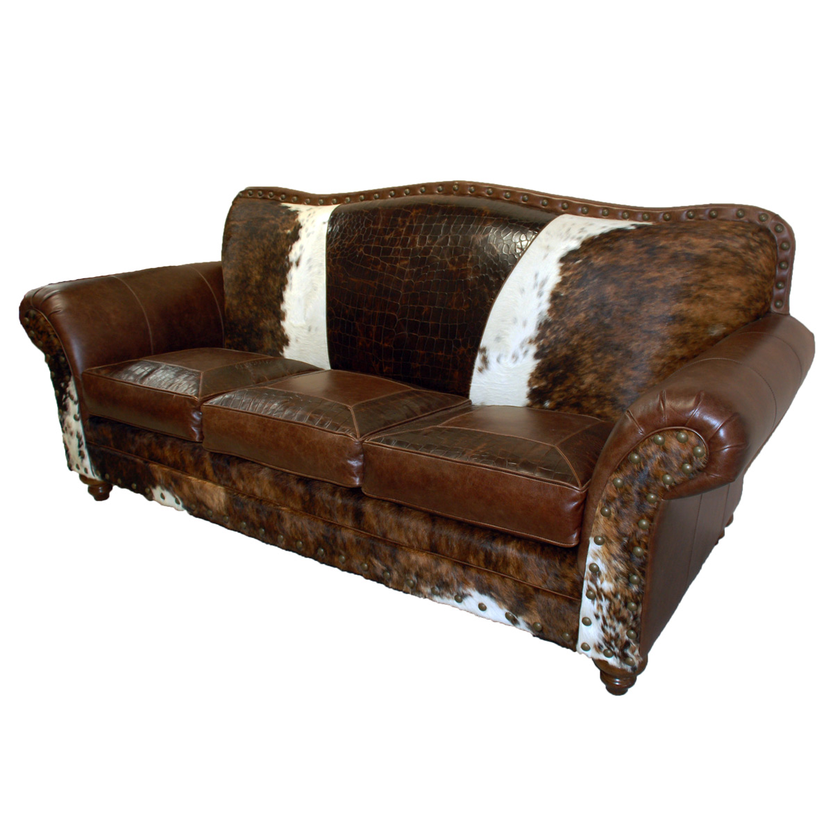 Black Forest Decor Vaquero 3 cushion sofa - 10 ft.