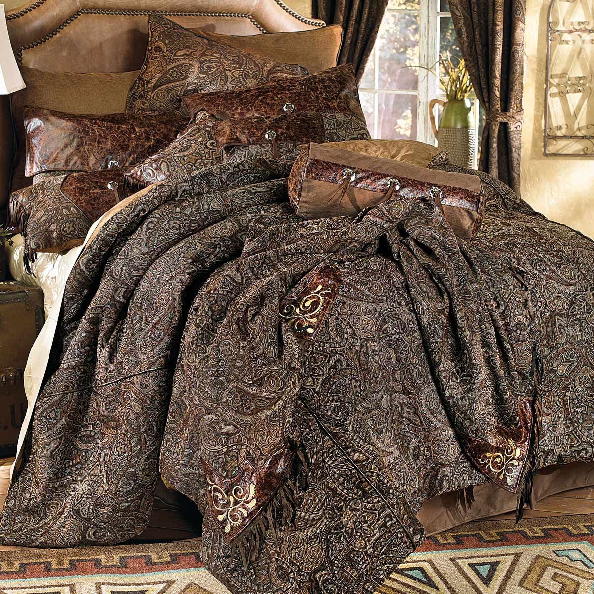 Black Forest Decor Western paisley beaumont bed set - king