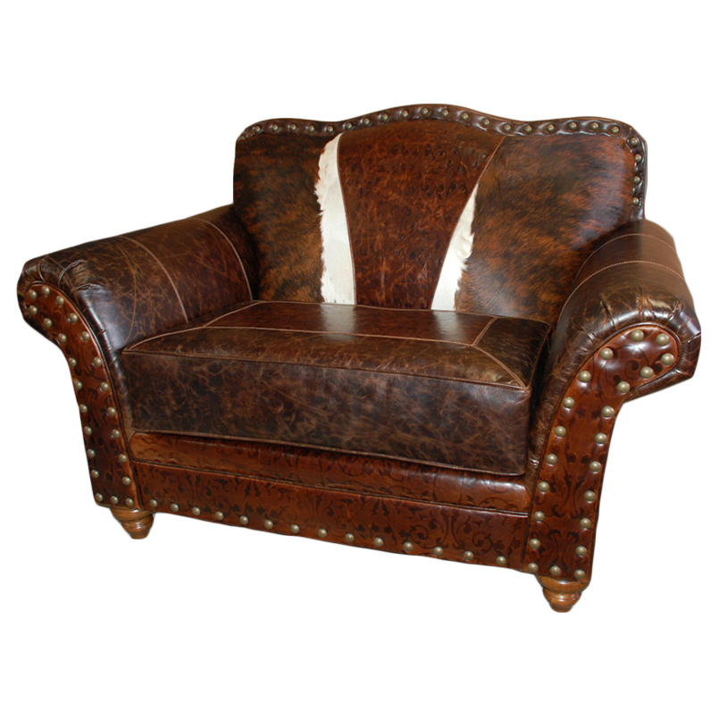 Black Forest Decor Western royalty chair and a half