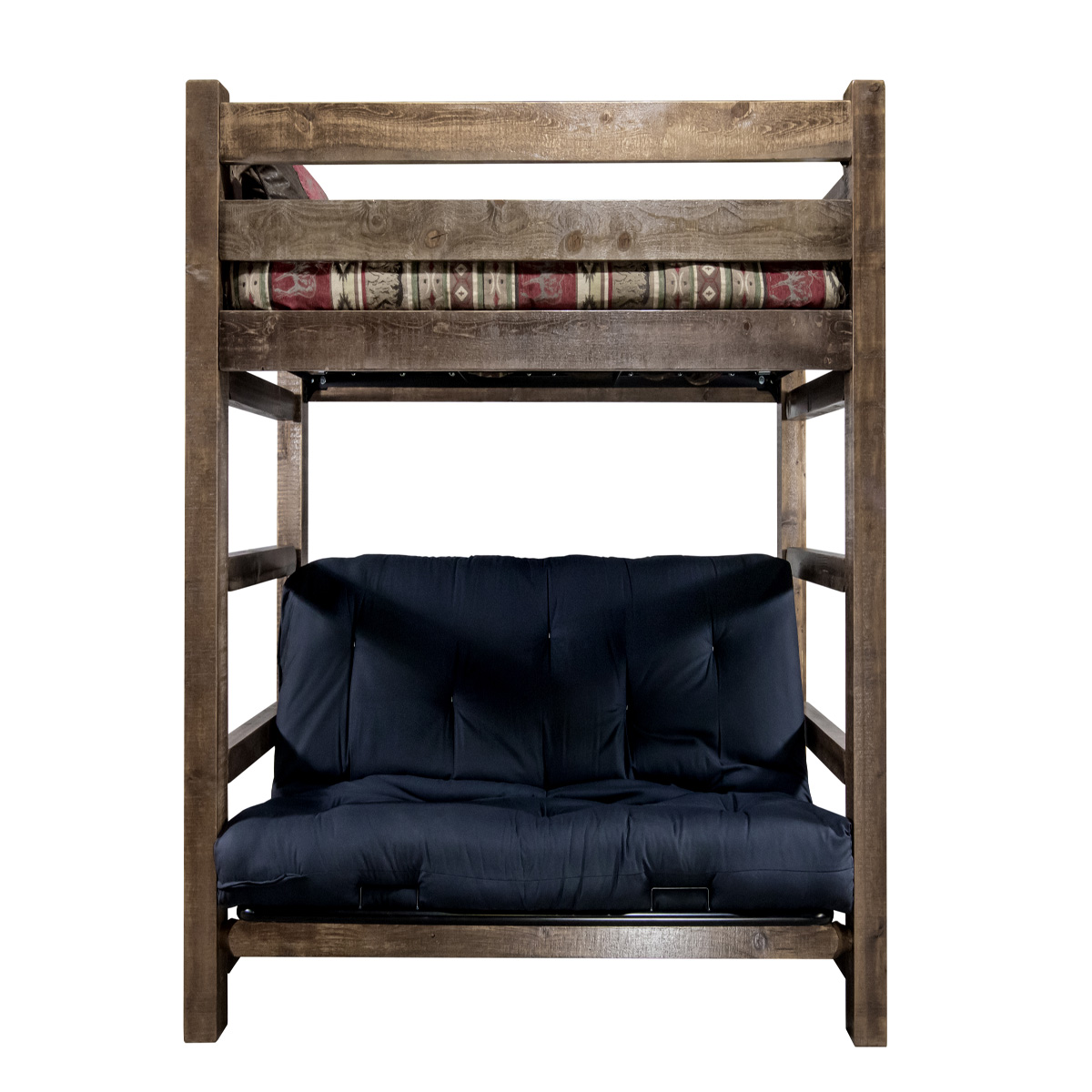 Black Forest Decor White bluff bunk bed - twin over full ...