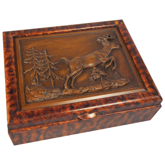 Black Forest Decor Whitetail deer keepsake box